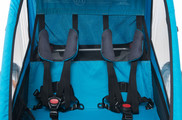 Inside bicycle trailer Thule Coaster